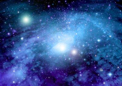 Canvas print Stars, dust and gas nebula