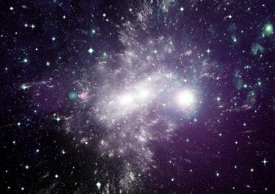 Canvas print Stars, dust and gas nebula in a far galaxy