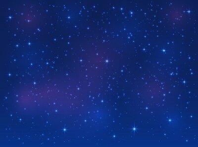 Canvas print Stars on blue sky background