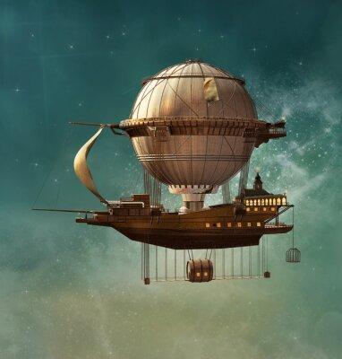 Canvas print Steampunk fantasy airship