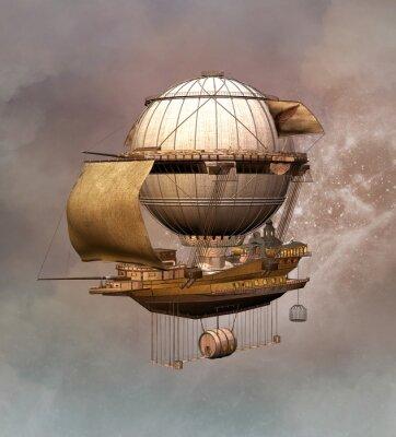Canvas print Steampunk vintage airship