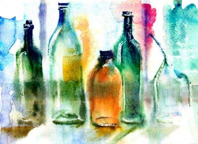 Canvas print Still life of various bottles