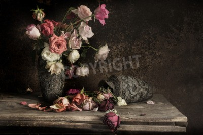 Canvas print still life Photography with flower
