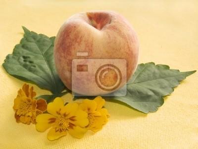 still-life with a peach
