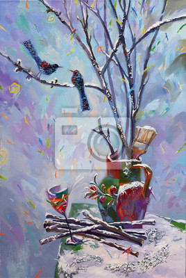 Canvas print Still Life With Birds