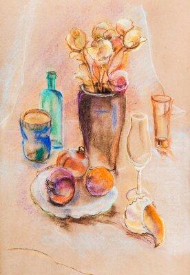 Canvas print Still life with sea bowl