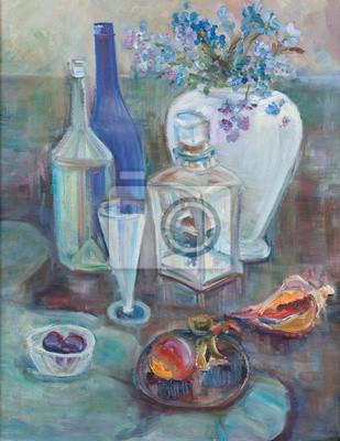 Canvas print Still life with sea bowls