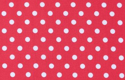 Canvas print Stoff  Rot Weiß Textur Punktmuster