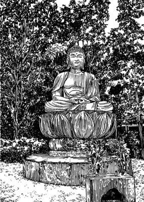 Canvas print Stone Buddha