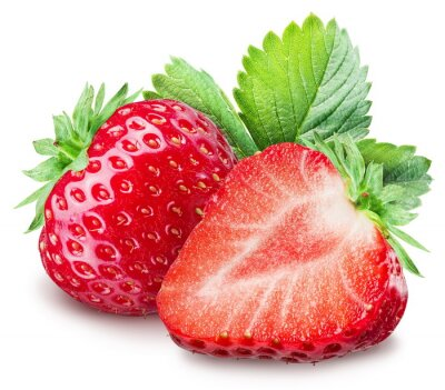 Canvas print Strawberries on the white background.
