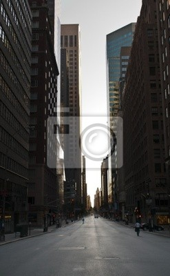 Canvas print street