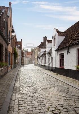 Canvas print Streets of Bruges, Belgium