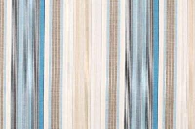 Canvas print Striped blue and brown textile pattern as a background. Close up on different vertical stripes material texture fabric.