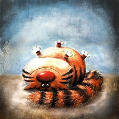 Canvas print Striped cat