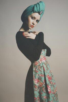 Canvas print Stylish refined lady