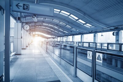 Canvas print Subway station in chongqing ,china