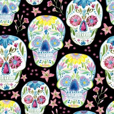 Canvas print Sugar skull painting