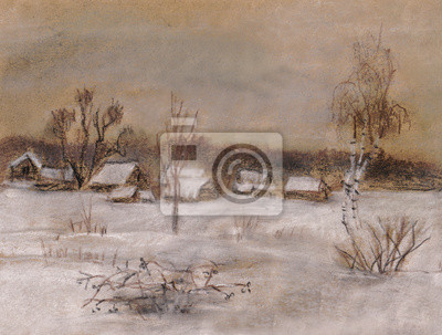 Canvas print Summer residences in the winter
