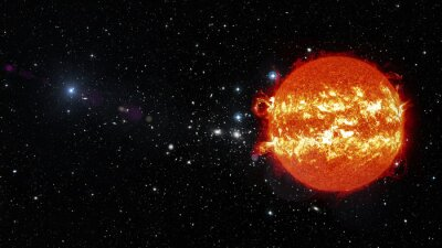 Canvas print Sun in outer space. Elements of this image furnished by NASA
