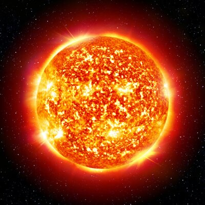 Canvas print sun planet