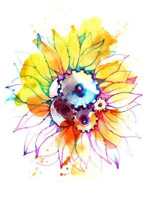 Canvas print sunflower