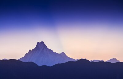 Canvas print Sunrise in Himalaya