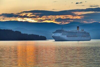 Canvas print Sunrise in the greek archipelago
