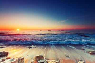 Canvas print Sunrise over sea