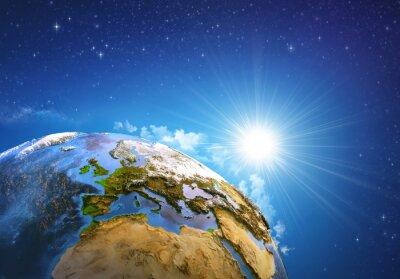 Canvas print Sunrise over the Earth