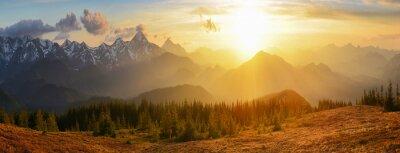 Canvas print Sunset mountains