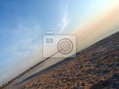 Sunset on sea ,  with slope