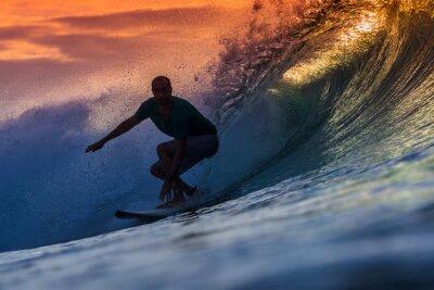 Canvas print Surfer on Amazing Wave