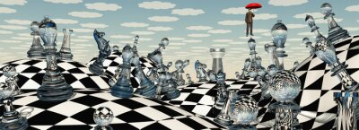 Canvas print Surreal Chess Landscape