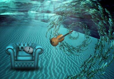 Canvas print Surreal Underwater Scene
