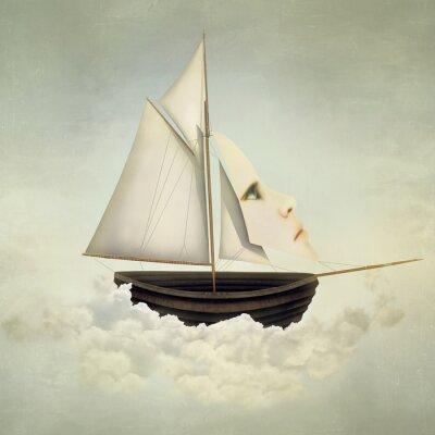 Canvas print Surreal Vessel