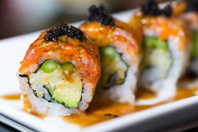 Canvas print Sushi roll