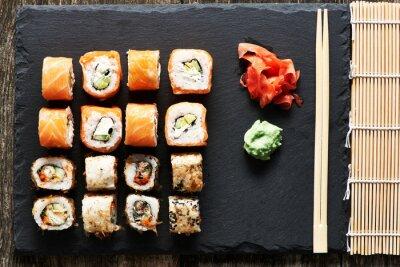 Canvas print Sushi rolls