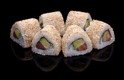 Canvas print sushi, rolls