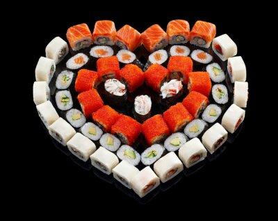 Canvas print sushi set
