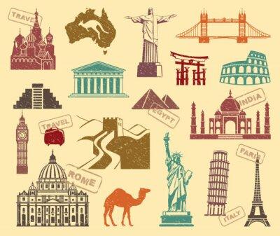 Canvas print Symbols of travel