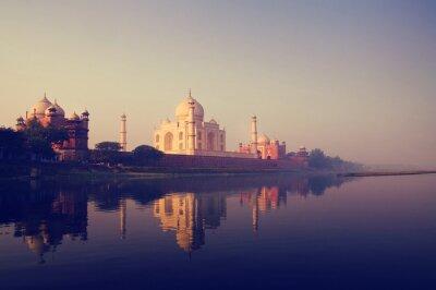 Canvas print Taj Mahal India Seven Wonders Concepts