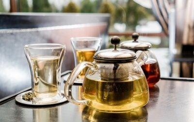 Canvas print tea set