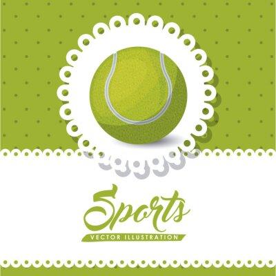 Canvas print tennis league design