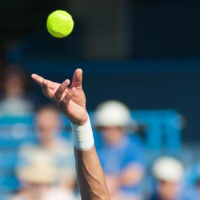 Canvas print Tennis Serve