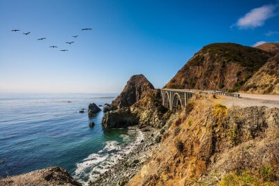 Canvas print The bridge - viaduct along the Pacific coast