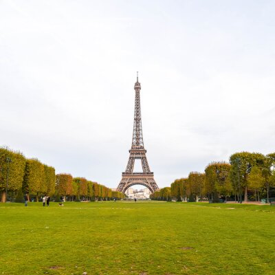 Canvas print The Eiffel Tower in Paris, France