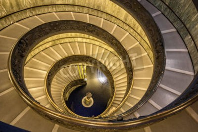 The famous spiral staircase in Vatican museum