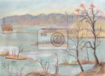 Canvas print The frozen lake