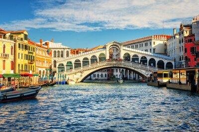 Canvas print The Grand Canal and Rialto bridge, Venice, Italy