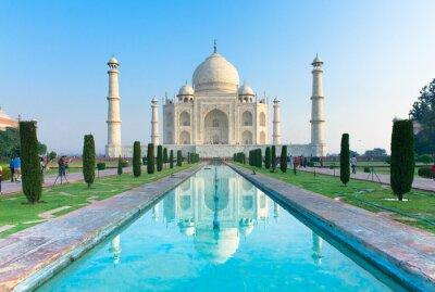 Canvas print The morning view of Taj Mahal monument